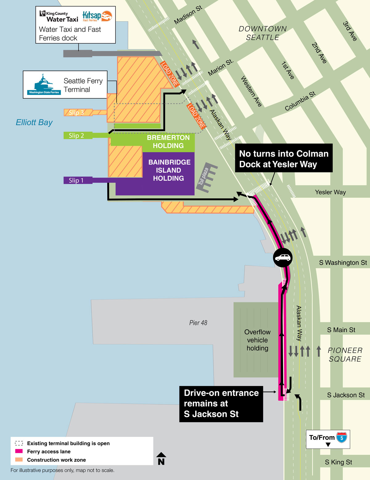 Seattle Waterfront Construction Major Construction Projects 2018